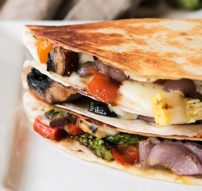 Summer Vegetable Quesadillas